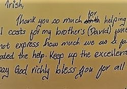 A Thank You Message from Davids Family